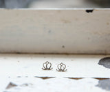 Charmed Lotus Stud Earrings, Sterling Silver