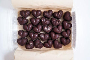 Glow Chocolate Hearts- 25 piece box