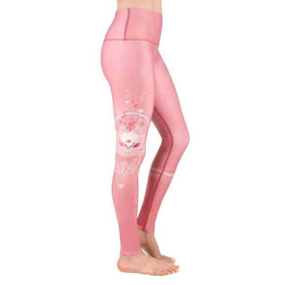 Hamsa Bloom Coral Leggings