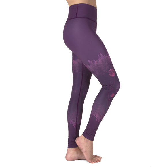 Mystical Moon Plum Leggings