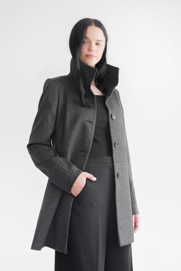 HANA Charcoal Alpaca Wool Coat