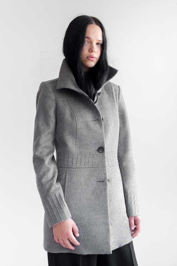 HANA Grey Alpaca Wool Coat