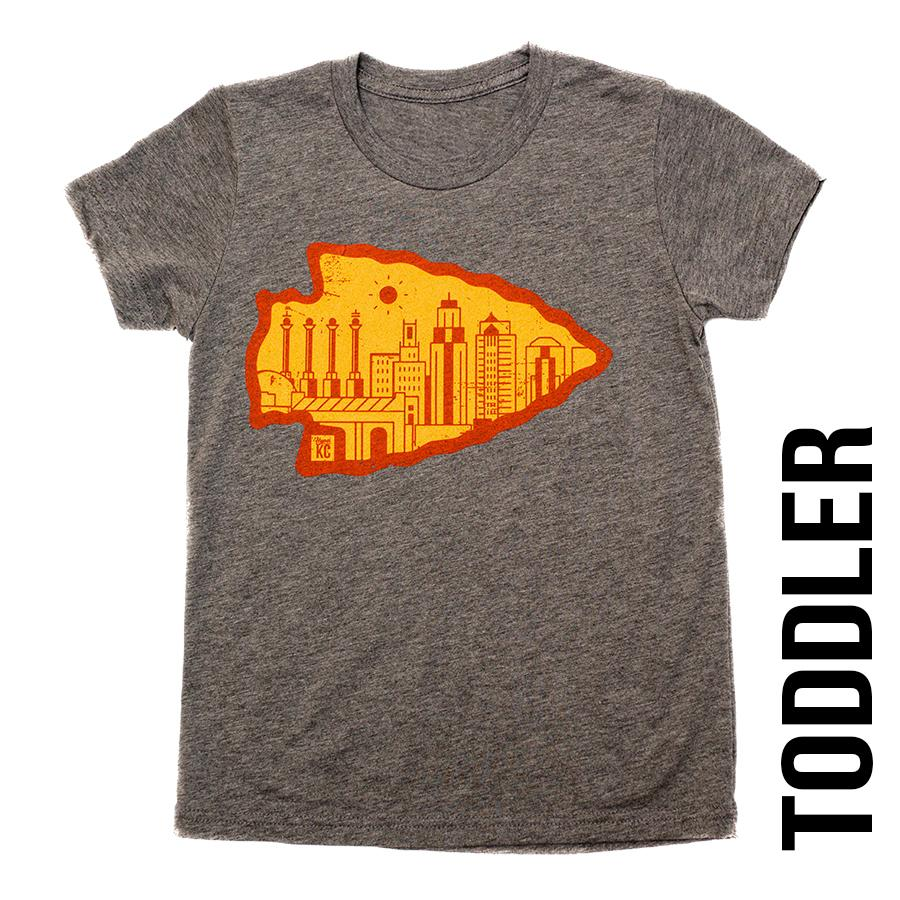 Arrowhead | Grey Toddler Tee