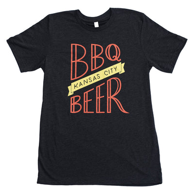 BBQ/Beer KC | Charcoal Black Unisex Tri-Blend