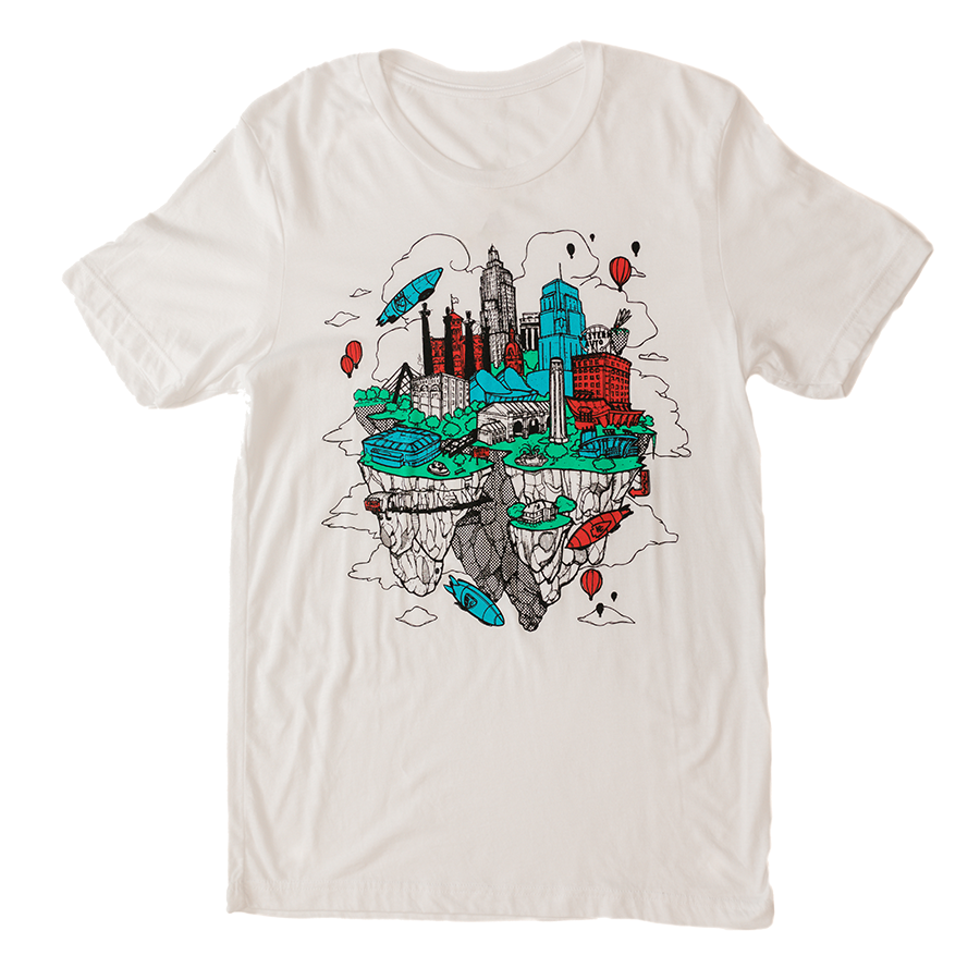 Floating KC | White Unisex Tri-Blend