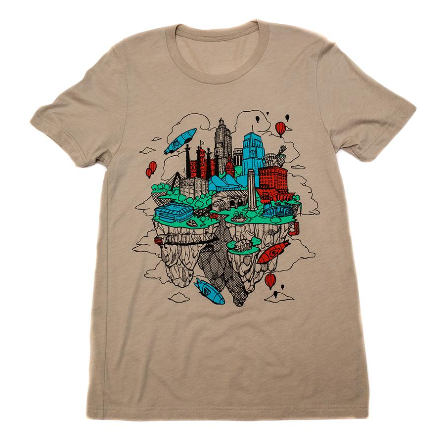 Floating KC | Tan Unisex Tri-Blend