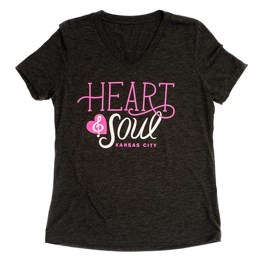 Heart & Soul | Charcoal Black Women's Relaxed-V