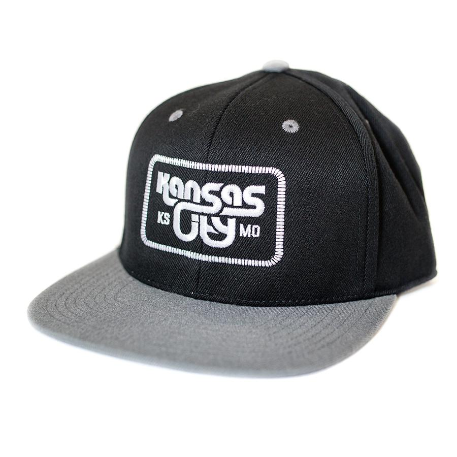 KCK/MO Snapback Cap | Black and Grey