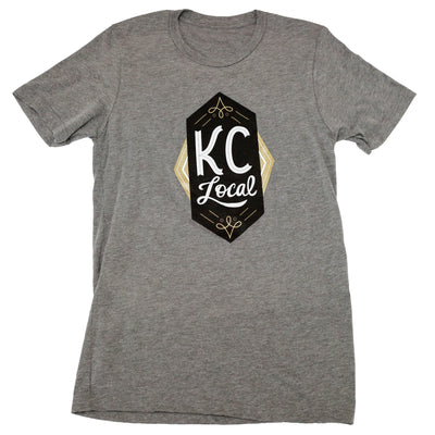 KC Local Black/Gold | Grey Unisex Tri-Blend