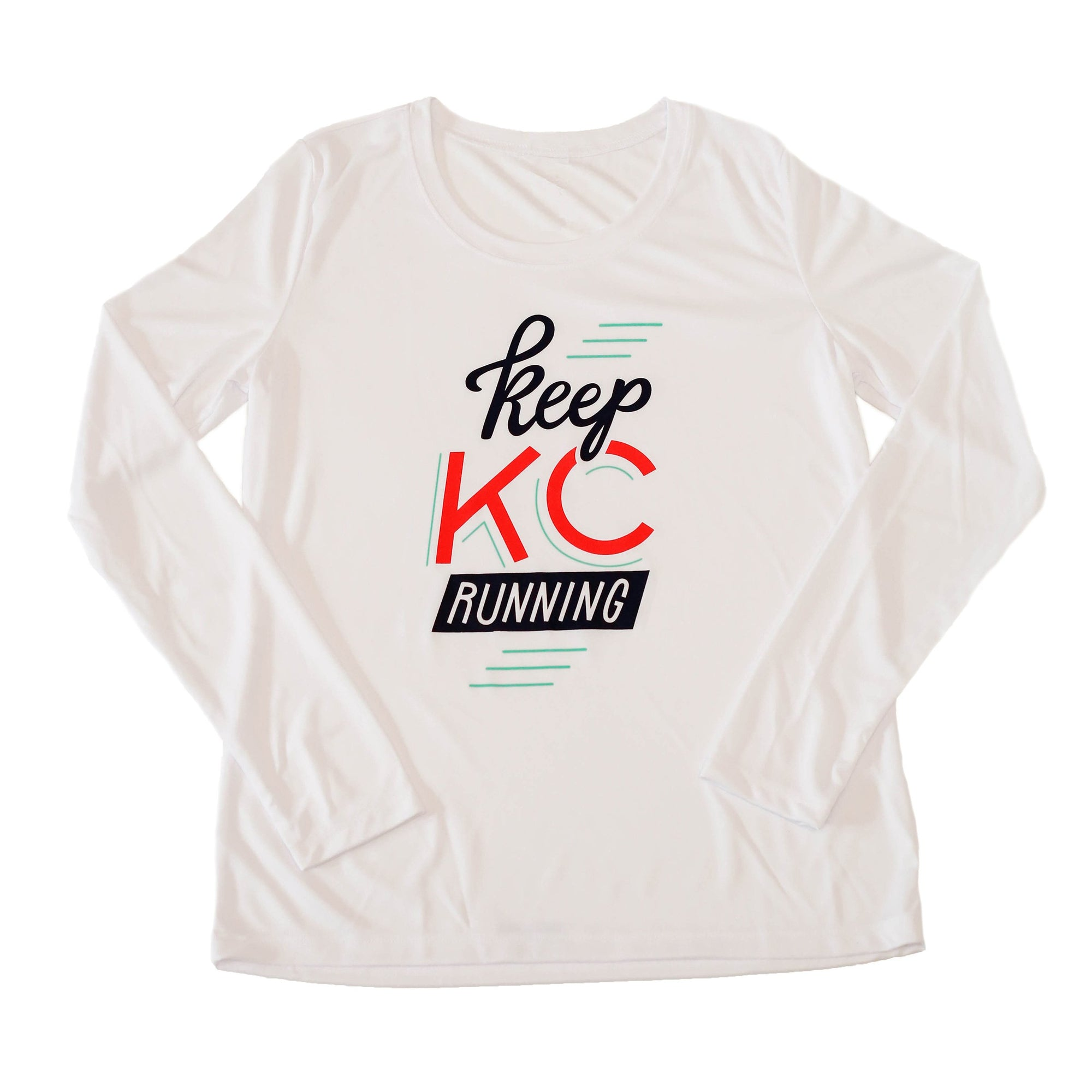 Keep KC Running | White Women's Performance Long Sleeve