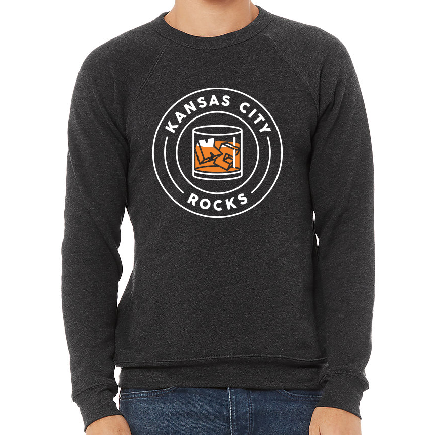 KC Rocks | Dark Grey Unisex Fleece Crew