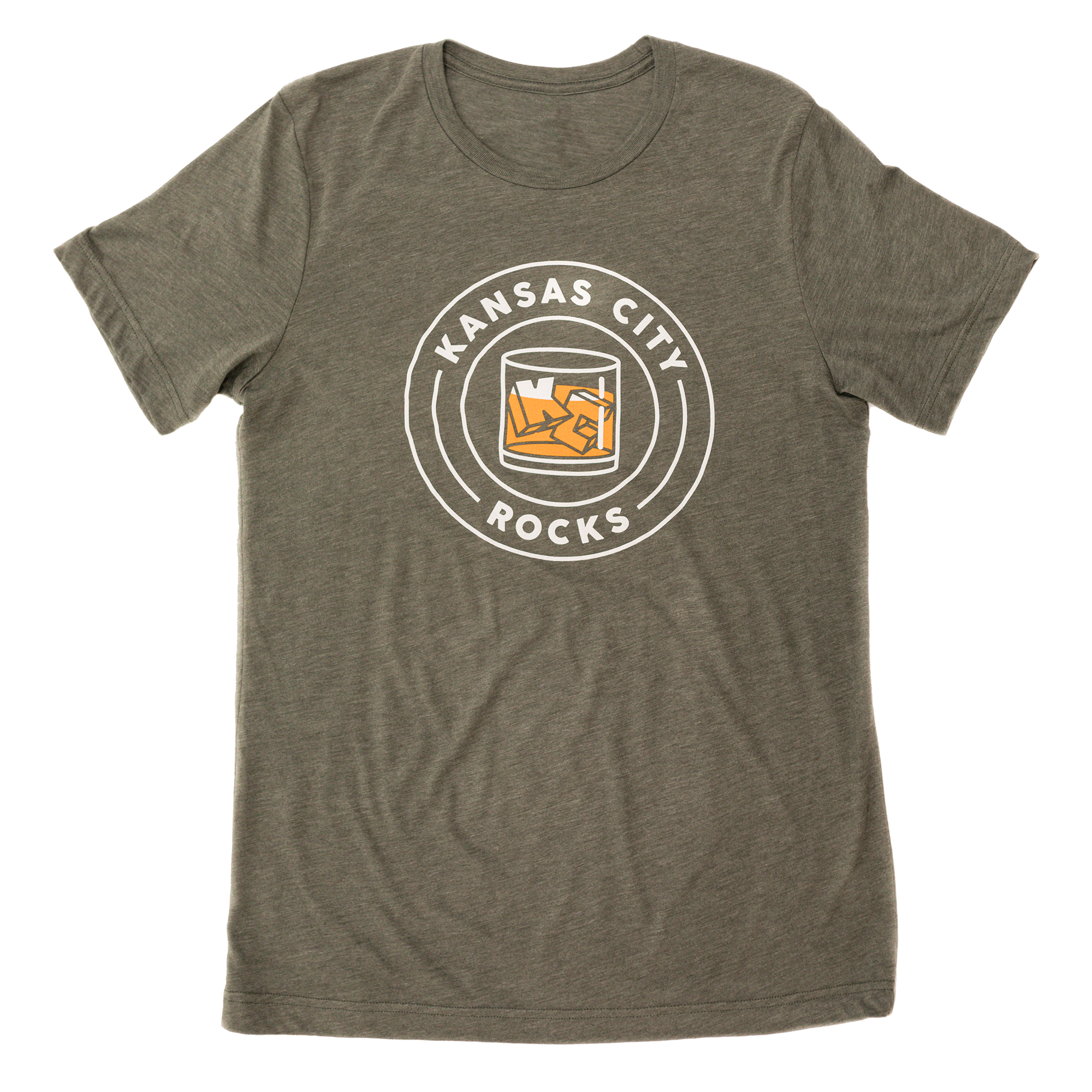 KC Rocks | Military Green Unisex Tri-Blend
