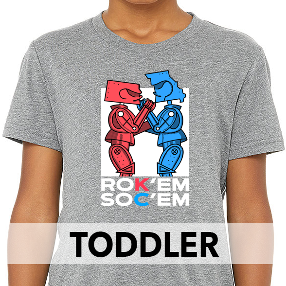 Rok'em Soc'em | Grey Toddler Tee