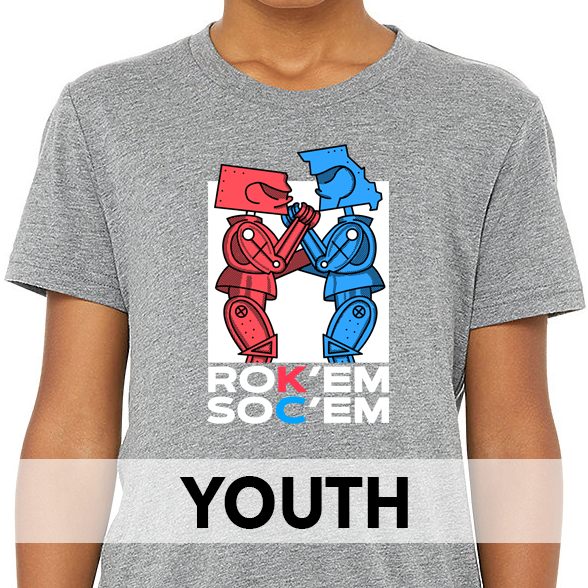 Rok'em Soc'em | Grey Youth Tee