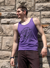 Turn Me On | Purple Unisex Tri-Blend Tank