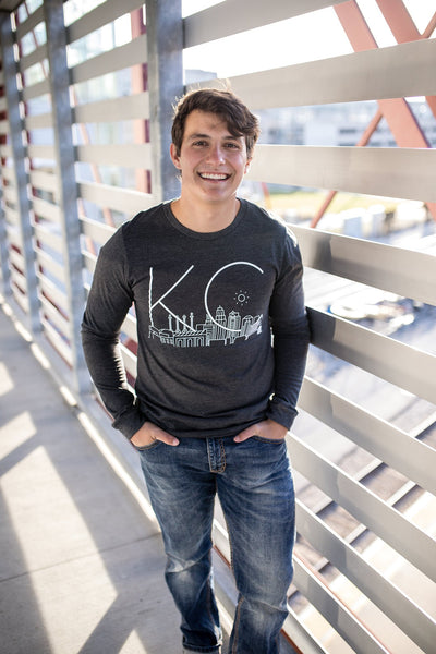 Skyline KC | Dark Grey Unisex Long Sleeve