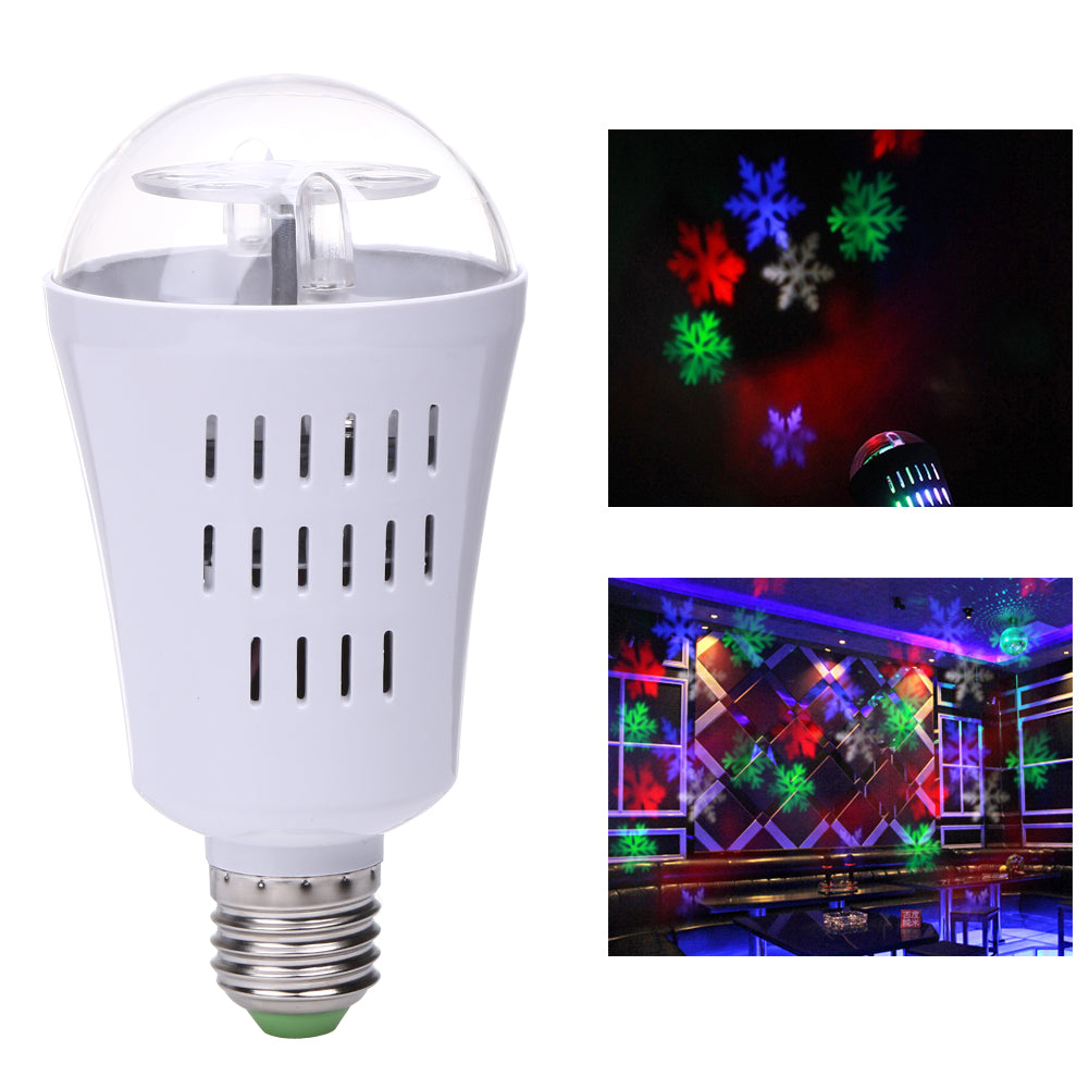 LED Snowflake Rotating Multi-Color Projector