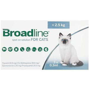 Merial Broadline For Cats Upto 5.5 lbs (up to 2.5 Kg) | UnitedPetWorld
