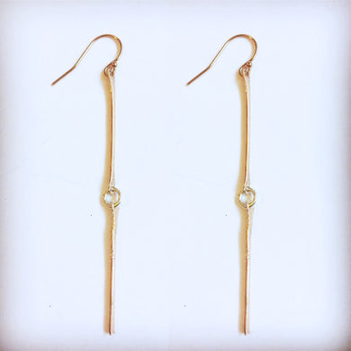 14K Yellow or Rose Gold Lille Earring