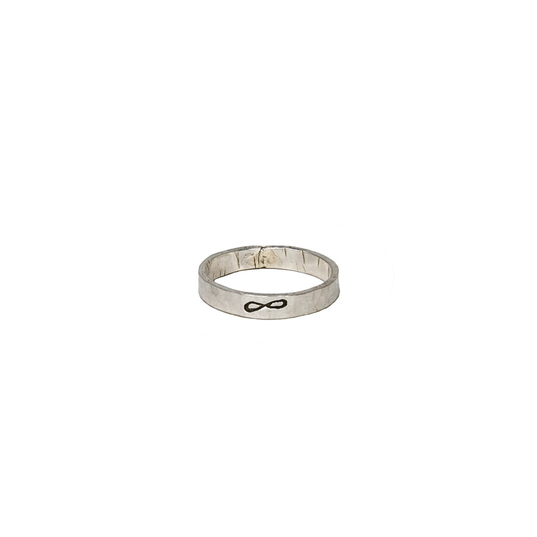 14K white or Yellow Gold 3mm eternity ring