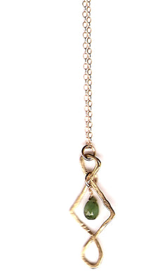 14K Athena Emerald Long Necklace