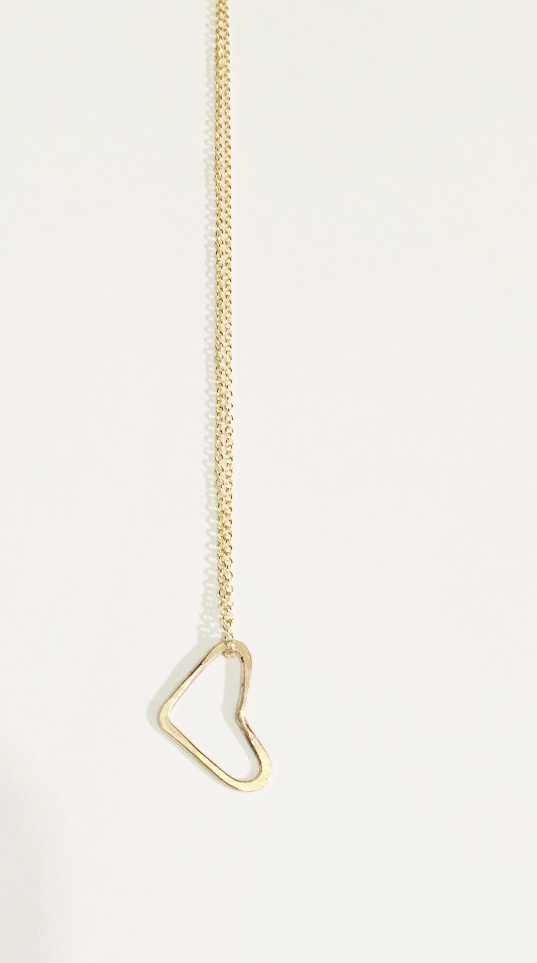 Floating Hammered Heart Necklace