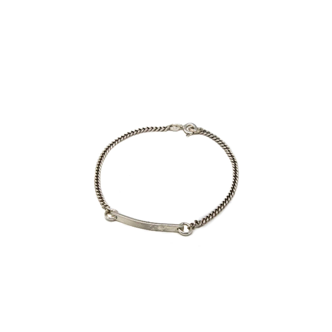 White or Yellow Gold ID Bracelet