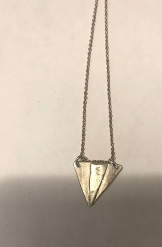 Shield pendant necklace. Sterling