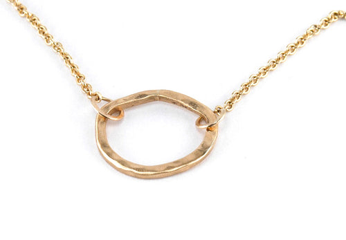 Floating Circle Necklace