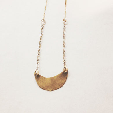 mezzaluna necklace