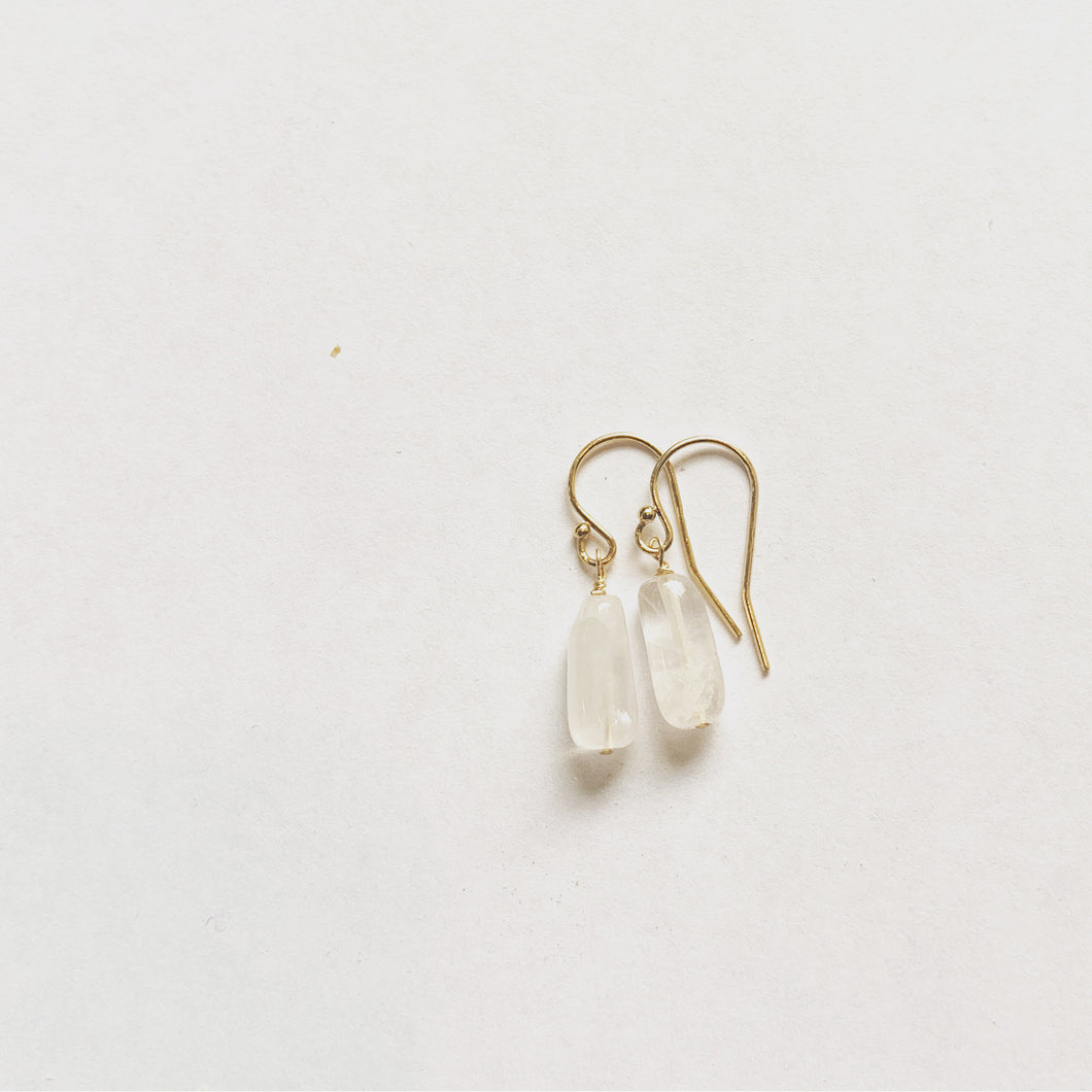 Rose Quartz Drop Earring