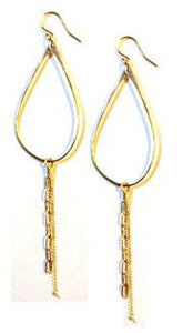 Teardrop Chain Hoop Earring