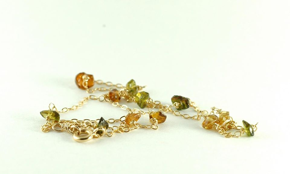 TOPAZ bracelet. Yellow and Green