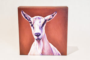 "Valerie Miller -- Steel Cow: Canvas Plaque- ""Shirley"""