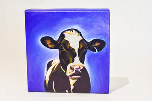 "Steel Cow: Canvas Plaque- ""Roberta"""