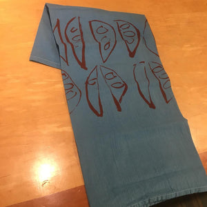 Astrid Bennett: Blue Pod Tea Towel