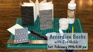 Zoe Webb: Accordion Bookmaking Class