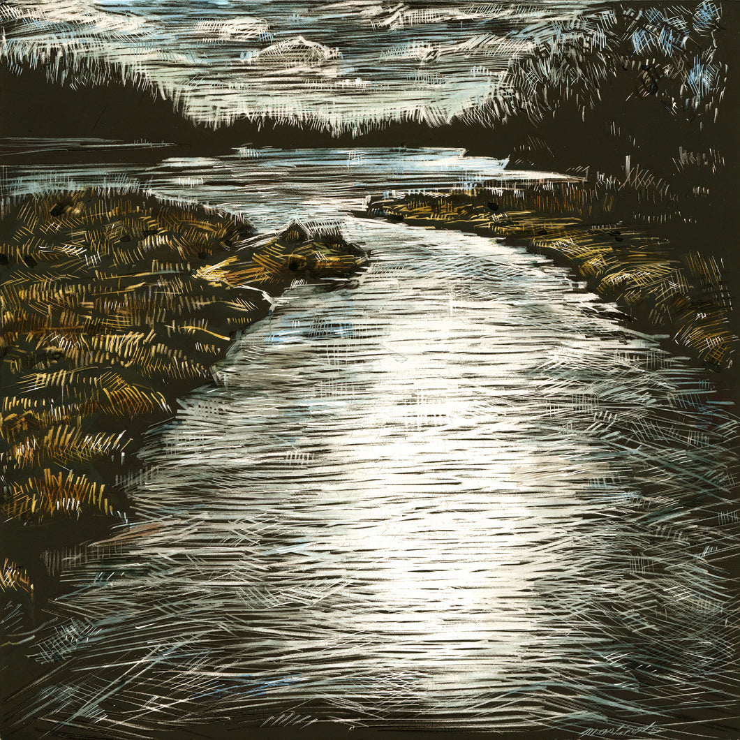 John Martinek: Arbor Lake Ink on Clayboard