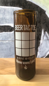 "ArtTech Studios: Up-Cycled Beer Glass ""Beer Tac Toe"""
