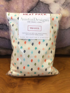 Austin Designs: TRAVEL Heat Pack - Multi Colored Splotches
