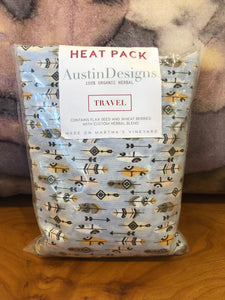 Austin Designs: TRAVEL Heat Pack - Feathers