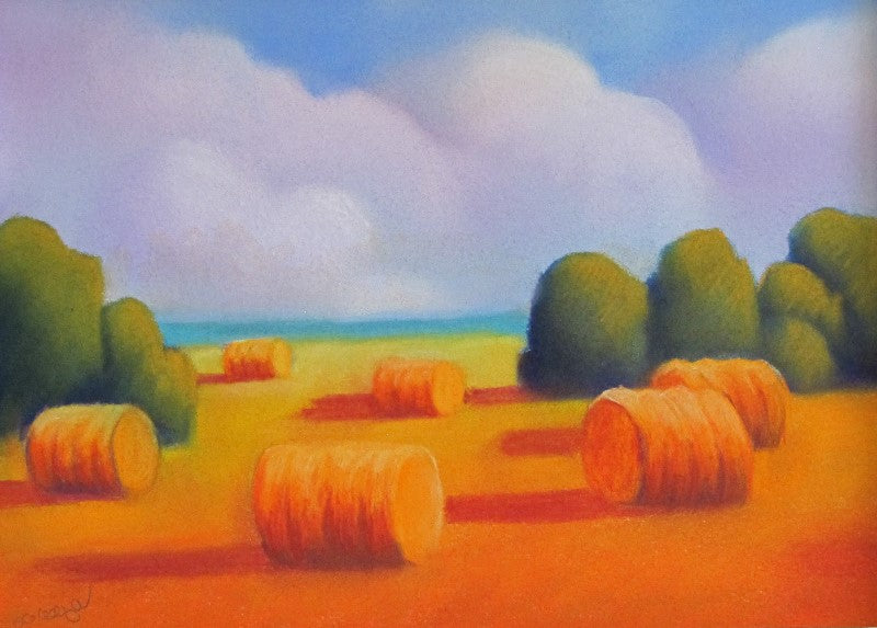 Gordon Kellenberger: Bales Patterns Pastel Painting
