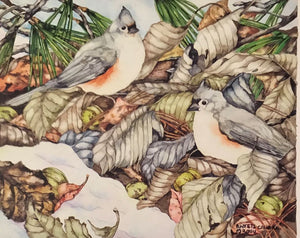 "Barbara Weets: ""Winter Disguise - Tufted Titmouse"" #35"
