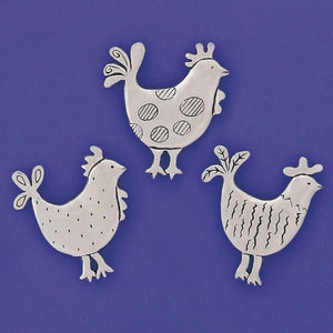 Basic Spirit: Medium Magnet Set-Roosters