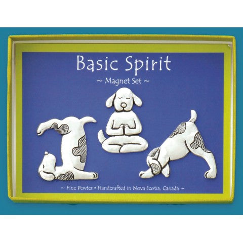 Basic Spirit: Medium Magnet Set-Yoga Dogs
