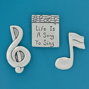 "Basic Spirit: Music Medium Magnet Set ""Life is a Song to Sing"""