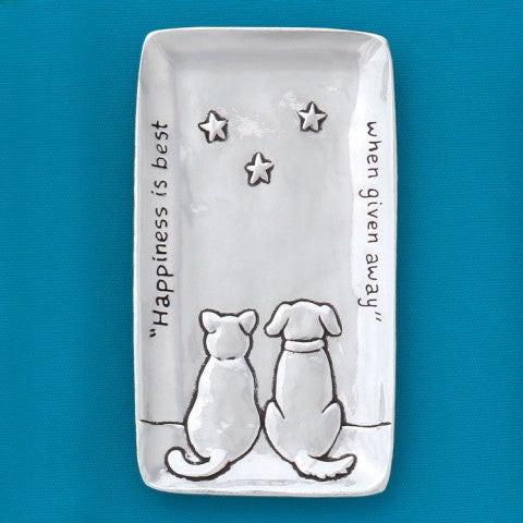 Basic Spirit: Cat & Dog Small Tray