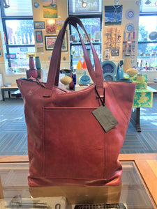 C.A.S. Handmade: Unlined Red Leather Tote Bag