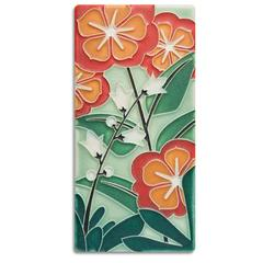 Motawi Tile: 4x8 Starry Flowers
