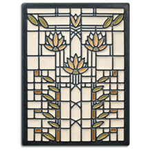 Motawi Tile: 6x8 Waterlilies